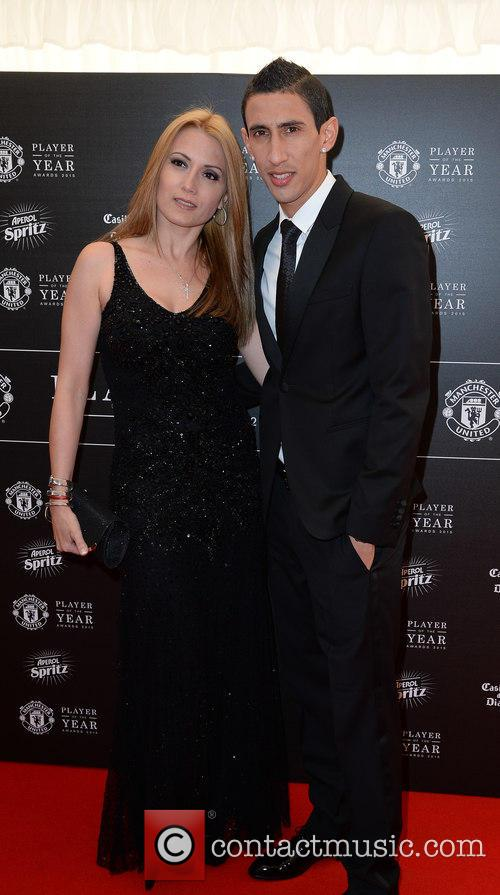 Manchester United, Angel Di Maria and Jorgelina Cardoso 2
