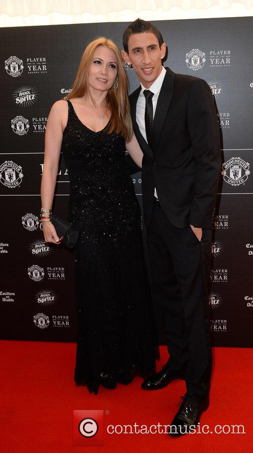 Manchester United, Angel Di Maria and Jorgelina Cardoso 4