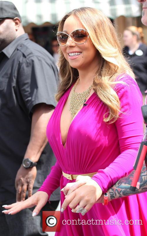 Mariah Carey arriving at 'Live! with Kelly and...