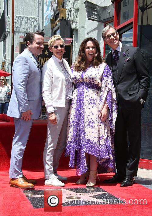 Ben Falcone, Ellen Degeneres, Melissa Mccarthy and Paul Feig