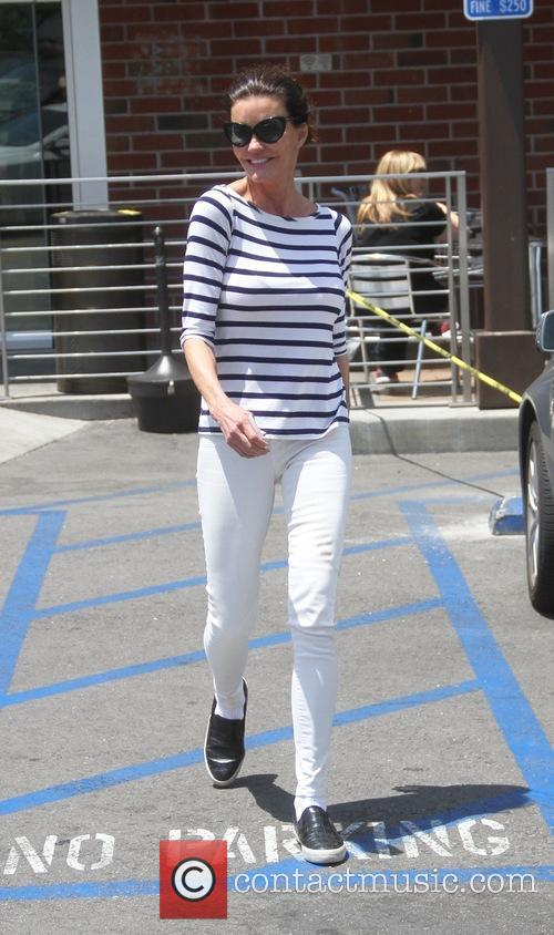 Janice Dickinson goes shopping in Beverly Hills