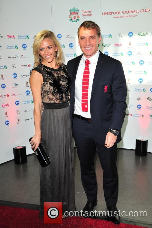 Brendan Rodgers and Charlotte Hind 1