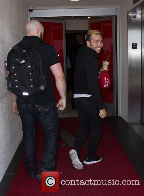 Pete Wentz arrives at Los Angeles International Airport
