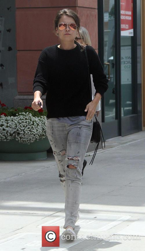 Alexa Davalos goes shopping in Beverly Hills
