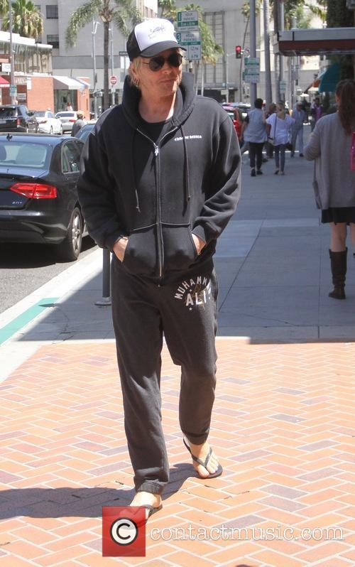 Matt Sorum goes shopping in Beverly Hills