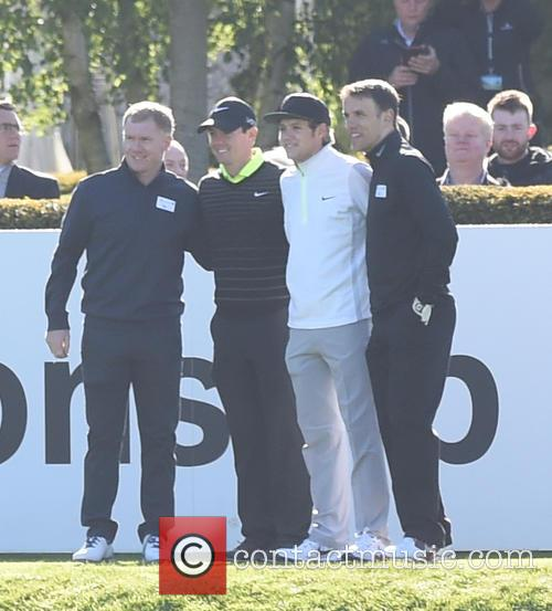Niall Horan, Rory Mcilroy, Phil Neville and Paul Scholes