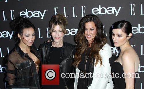 Tinashe, Editor-in-chief At Elle Magazine Robbie Myers, Alanis Morissette and Banks 4