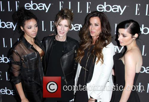 Tinashe, Editor-in-chief At Elle Magazine Robbie Myers, Alanis Morissette and Banks 5