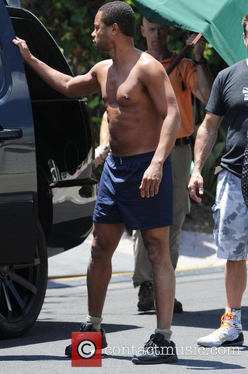 John Travolta filming