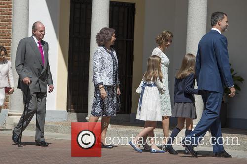 King Juan Carlos, Queen Sofia, King Felipe Vi Of Spain, Princess Sofia Of Spain and Princess Leonor Of Spain 2