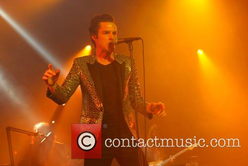 Brandon Flowers performs at The Brixton Academy