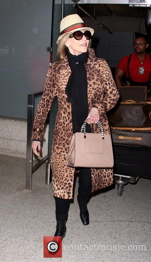 Jane Fonda at Los Angeles International Airport (LAX)