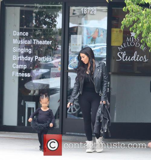 Kim Kardashian and Nori West 2