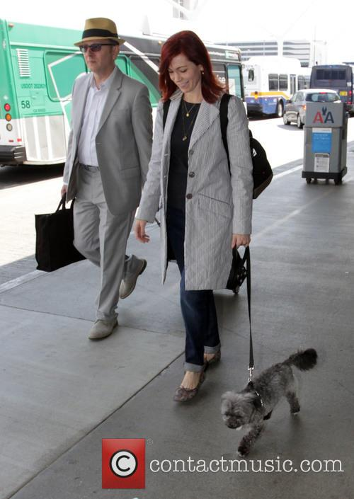 Michael Emerson and Carrie Preston leave Los Angeles...
