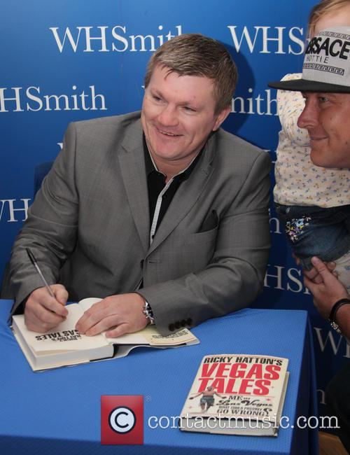 Ricky Hatton signs copies of his new book...