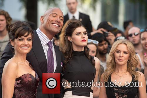 Dwayne Johnson, Carla Gugino, Alexandra Daddario and Kylie Minogue 6