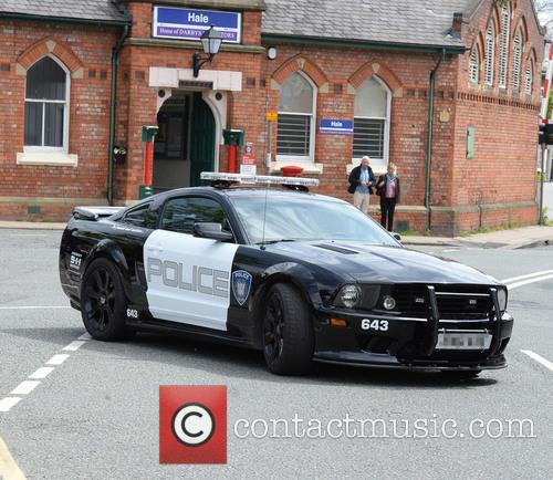 American styled police car in Cheshire