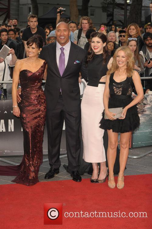 Carla Gugino, Dwayne Johnson, Alexandra Daddario and Kylie Minogue 1