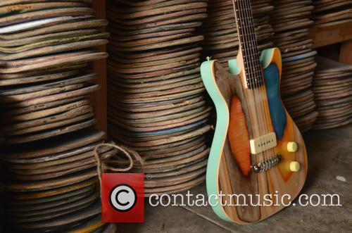 Guitars Made Out Of Old Skateboards