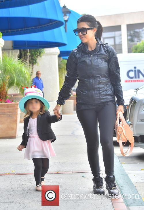 Kim Kardashian and Courtney take their girls to...