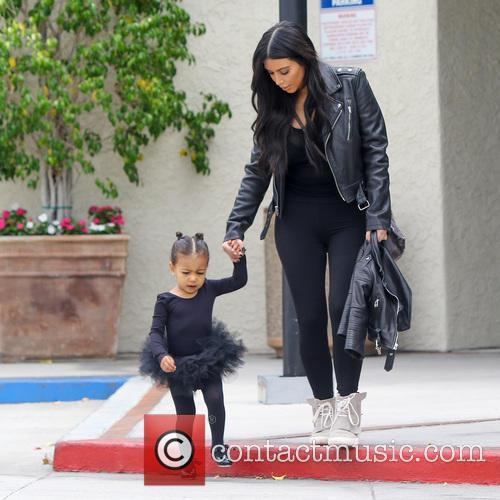 Kim Kardashian and North West 8