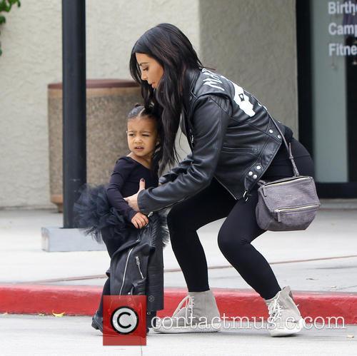 Kim Kardashian and North West 11