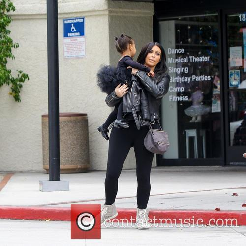 Kim Kardashian and North West 1