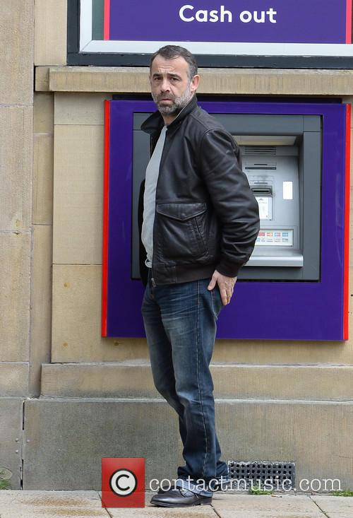 Michael Le Vell stops by a NatWest cash...