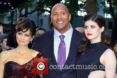 Carla Gugino, Dwayne Johnson and Alexandra Daddario 1