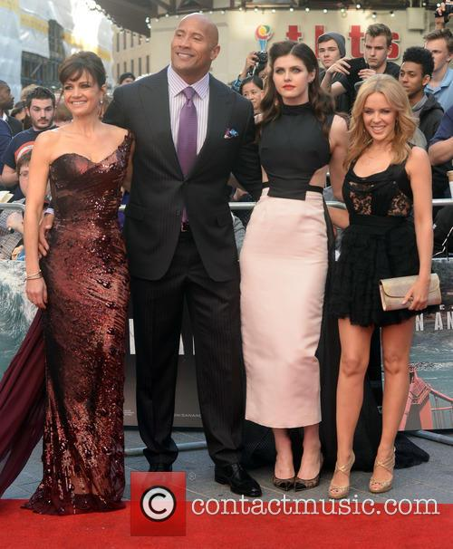 Carla Gugino, Dwayne Johnson, Alexandra Daddario and Kylie Minogue 10