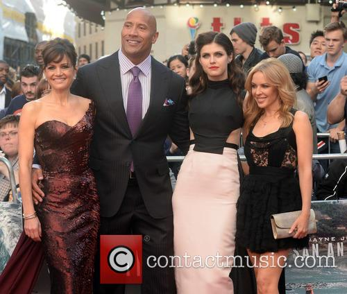 Carla Gugino, Dwayne Johnson, Alexandra Daddario and Kylie Minogue 11