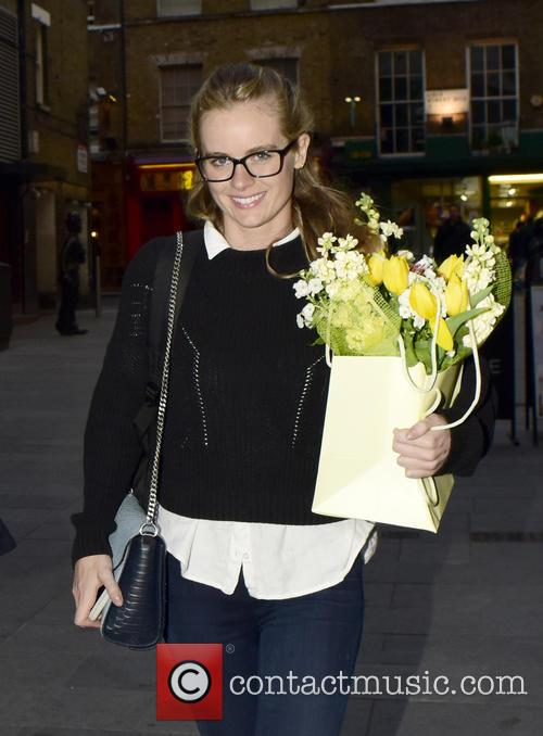 Cressida Bonas leaves the Leicester Square Theatre after...