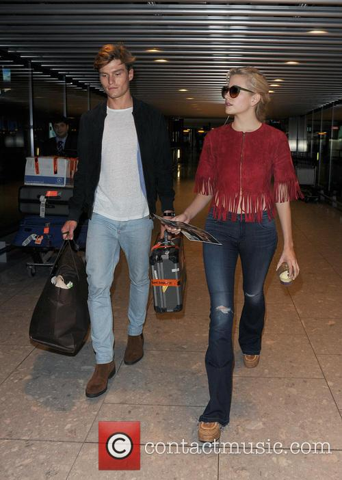 Pixie Lott and her boyfriend Oliver Cheshire arrive...