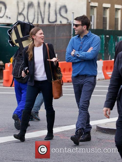 Zachary Quinto spotted out in the East Village...