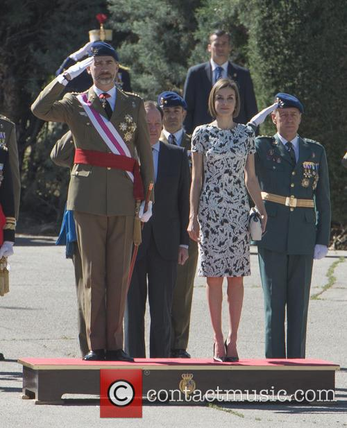 Guards, King Felipe Of Spain and Queen Letizia Of Spain 2