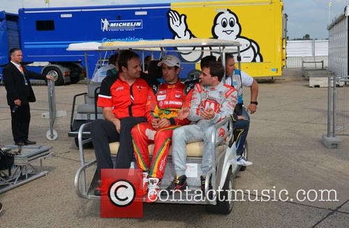 Thomas Biermaier, Lucas Di Grassi and Jerome D'ambrosio 2