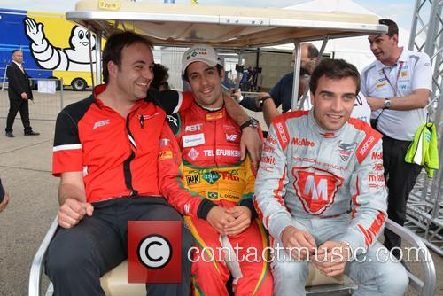Thomas Biermaier, Lucas Di Grassi and Jerome D'ambrosio 5