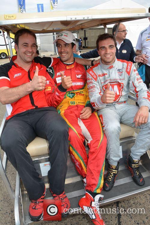 Thomas Biermaier, Lucas Di Grassi and Jerome D'ambrosio 1