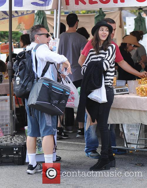 Victoria Justice at the Farmers Market