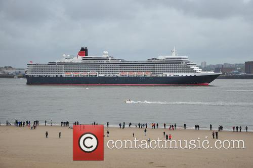 Cunard Ships gather on the River Mersey