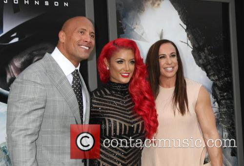 Dwayne Johnson, Eva Marie and Dany Garcia 2