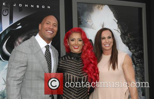 Dwayne Johnson, Eva Marie and Dany Garcia 3