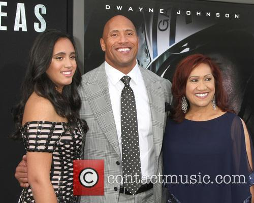 Simone Alexandra Johnson, Dwayne Johnson and Ata Johnson 2