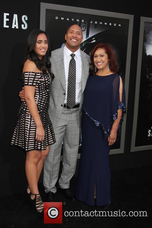 Simone Alexandra Johnson, Dwayne Johnson and Ata Johnson 1