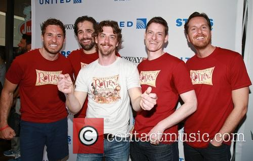 Christian Borle and Cast Of Something Rotten 9