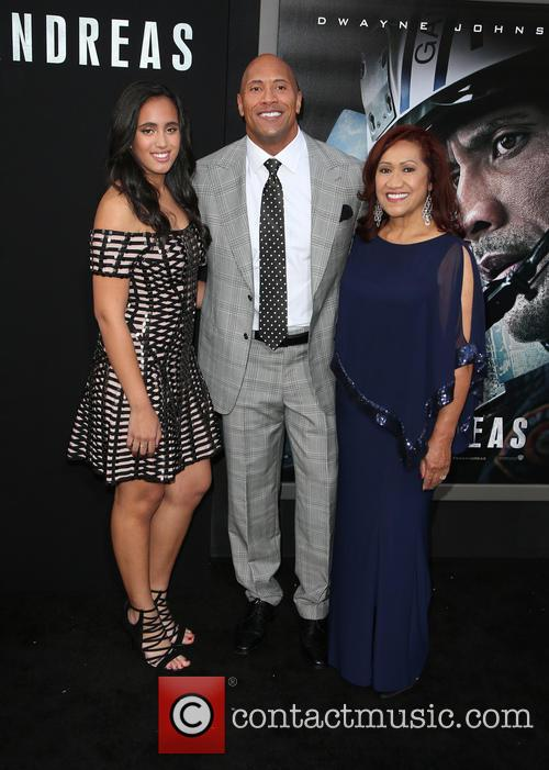 Alexandra Johnson, Dwayne 'the Rock' Johnson and Ata Johnson 2