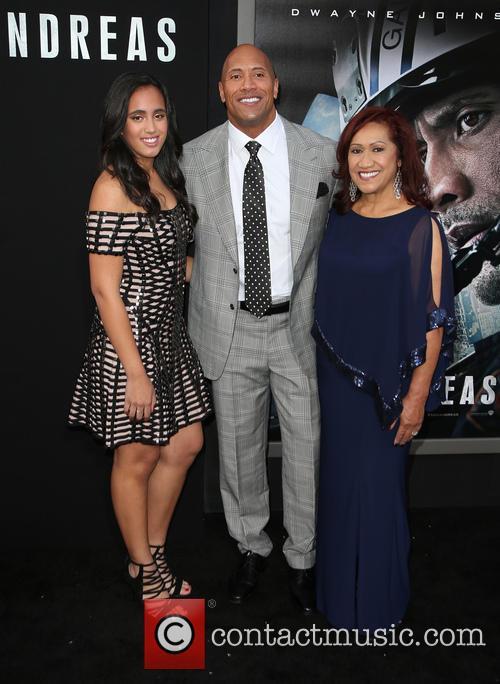 Alexandra Johnson, Dwayne 'the Rock' Johnson and Ata Johnson 3