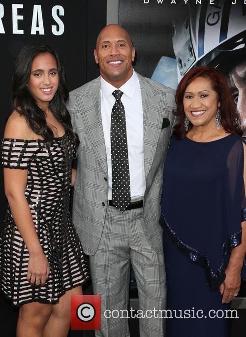 Alexandra Johnson, Dwayne 'the Rock' Johnson and Ata Johnson 4