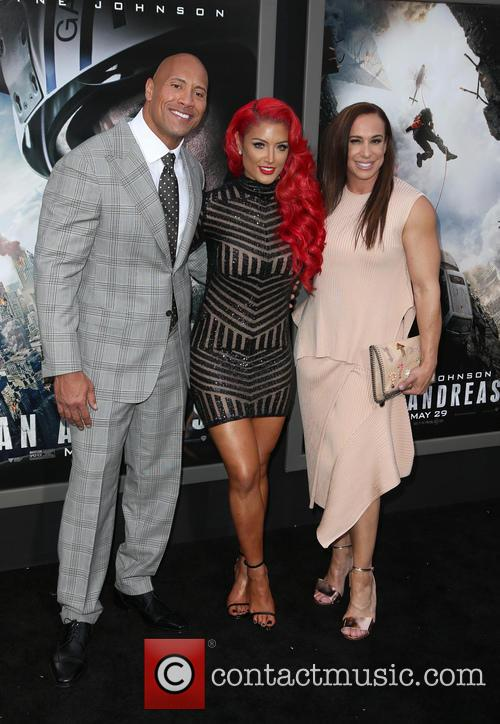 Wayne 'the Rock' Johnson, Danny Garcia and Eva Marie 2