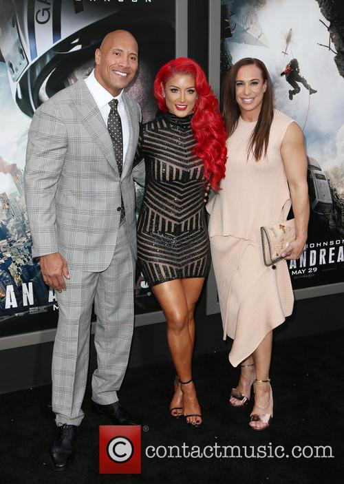 Wayne 'the Rock' Johnson, Danny Garcia and Eva Marie 3